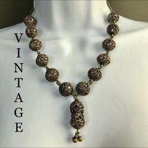 Vintage Filigree Boho Necklace